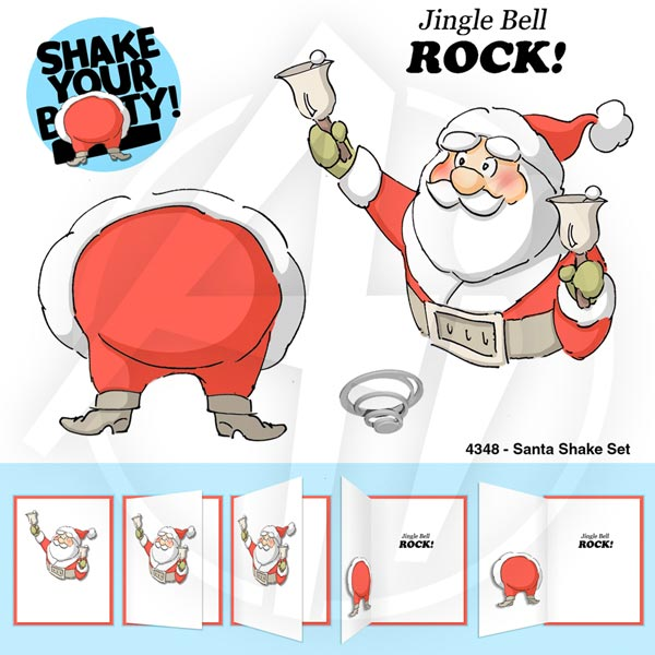 Art Impressions Rubber Stamp - Santa Shake Set