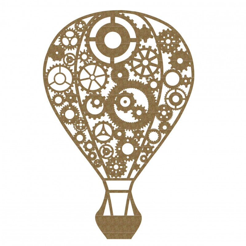 Creative Embellishments Chipboard - Steampunk Hot Air Balloon