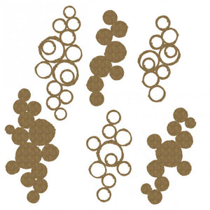 Creative Embellishments Chipboard - Distressed Circle Pieces