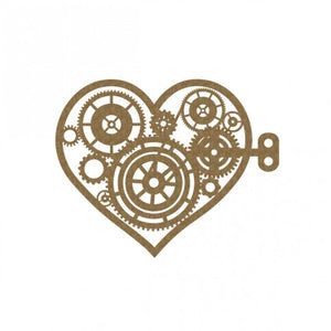 Creative Embellishments Chipboard - Steampunk Heart