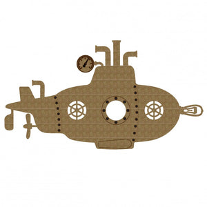 Creative Embellishments Chipboard - Steampunk Submarine