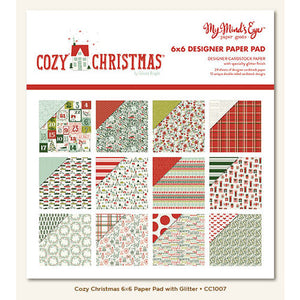 "My Mind's Eye Paper Pad 6"" X 6"" Double-Sided - Cozy Christmas"