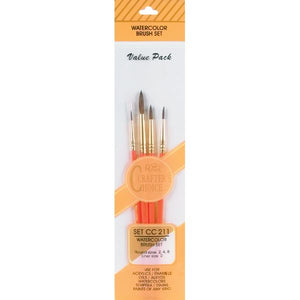 Crafter's Choice Camel Hair Brush Set 4 pk.