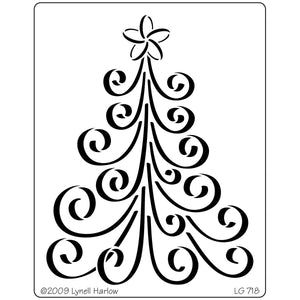 Dreamweaver Metal Stencil - Curly Christmas Tree