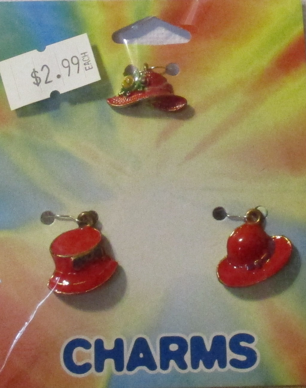 Darice Jewelry Making Metal Charms - Red Hats