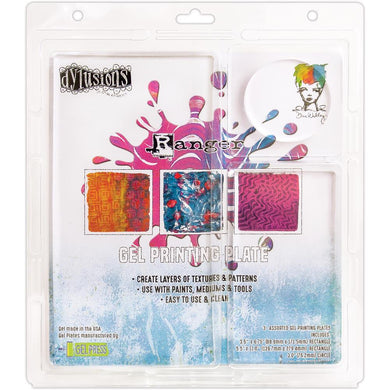 Dylusions & Dina Wakley Gel Printing Plate by Ranger - Assortment 3 pk.