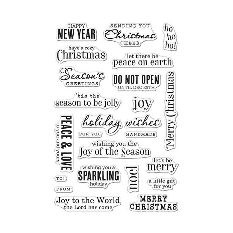 Hero Arts Clear Stamps - Christmas Messages