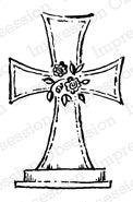 Impression Obsession Rubber Stamp - Easter Cross