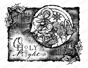 Impression Obsession Rubber Stamp - Holy Night Collage