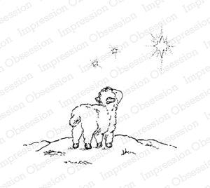 Impression Obsession Rubber Stamp - Lamb Waiting