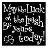Impression Obsession Sentiment Rubber Stamp - Luck of the Irish