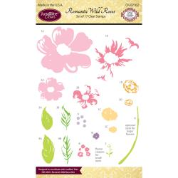 JustRite Clear Stamp - Romantic Wild Roses