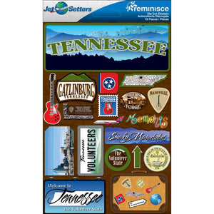 Jet Setters Dimensional Stickers by Reminisce - Tennessee