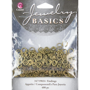 Cousin Jewelry Basics Jump Ring 4/6 mm Open/Close Antique Gold