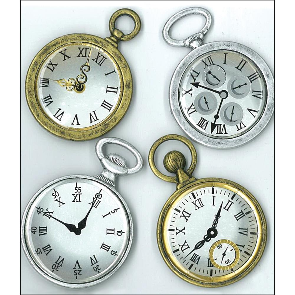 Jolee's Boutique Dimensional Stickers - Vintage Pocked Watches