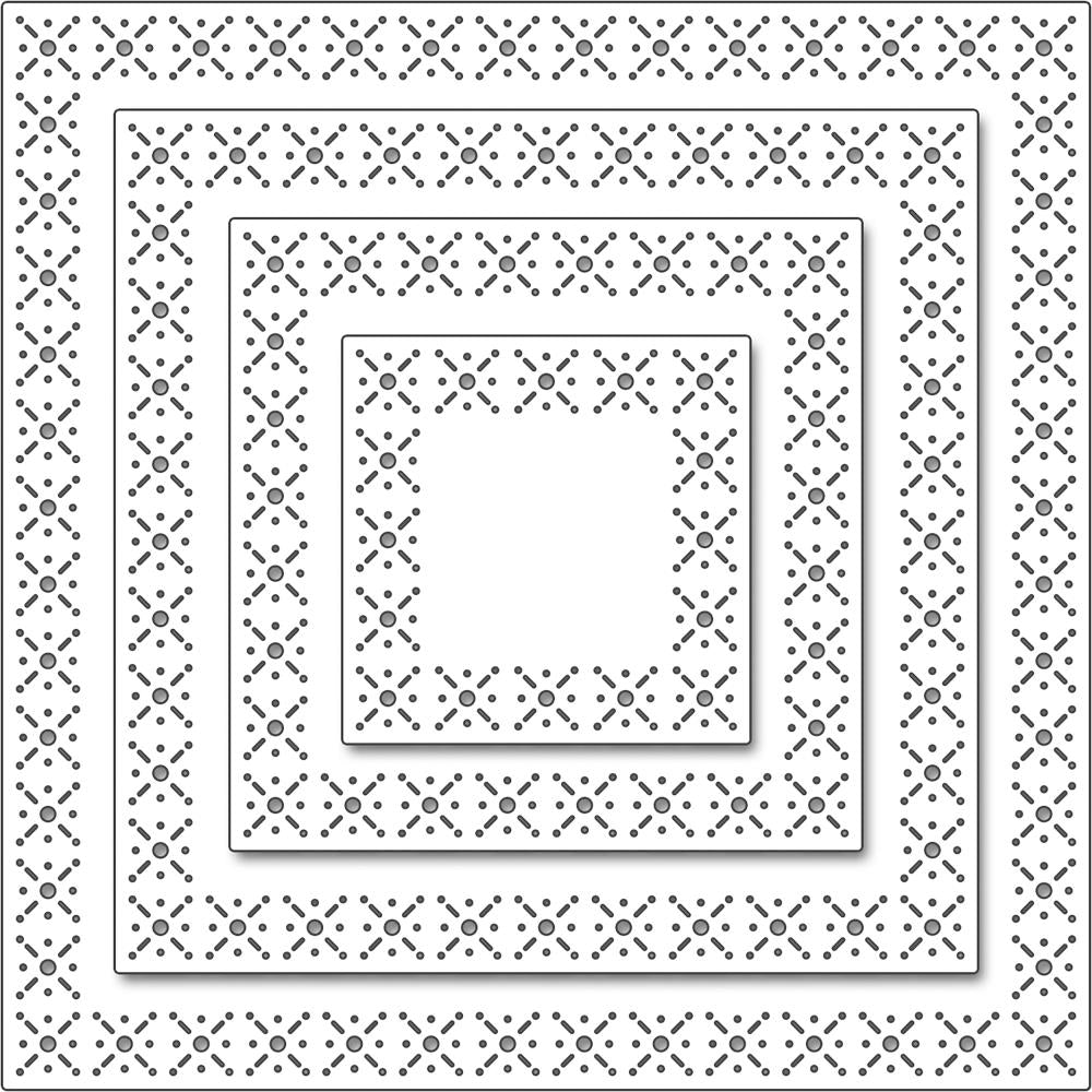 Penny Black Creative Dies - Snowflake Stitch Frames