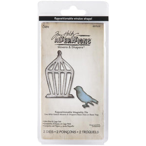 Tim Holtz Alterations Movers & Shapers Die by Sizzix - Mini Bird & Cage Set