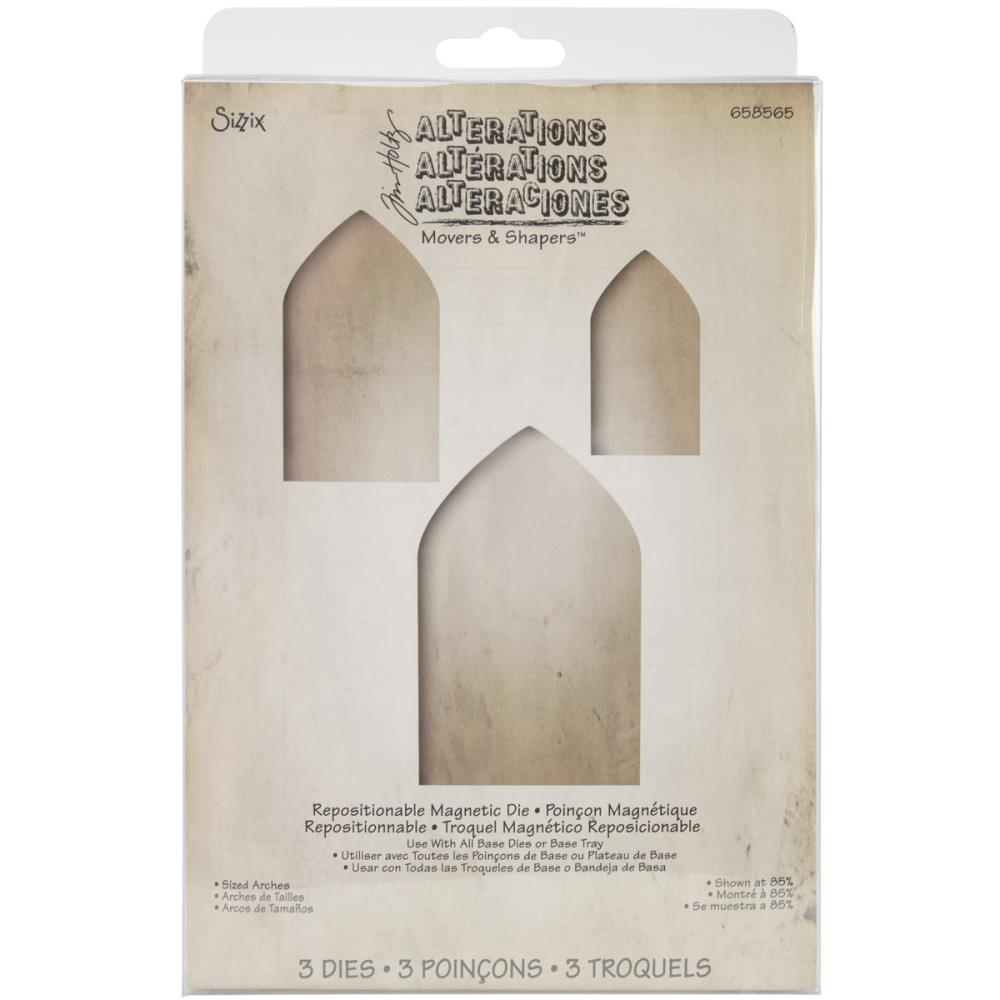 Tim Holtz Alterations Movers & Shapers Die by Sizzix - Sized Arches