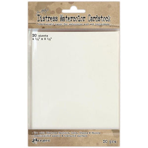 "Tim Holtz Distress Watercolor Cardstock, 4 1/4"" x 5 1/2"""