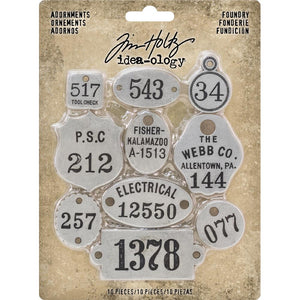 Tim Holtz 2018 Idea-Ology  - Adornments, Foundry