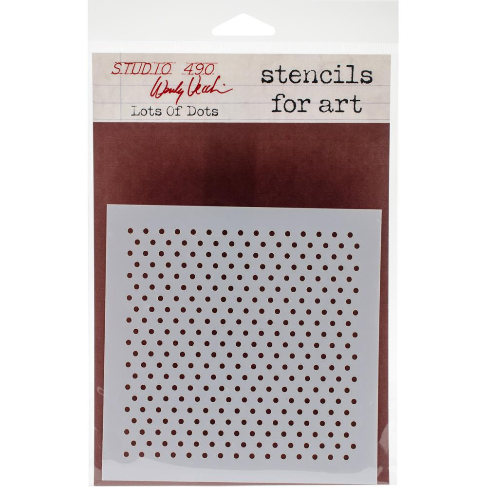 Wendy Vecchi Studio 490 Stencil - Lots of Dots