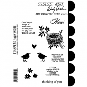 Wendy Vecchi Studio 490 Rubber Stamp - Art From The Nest