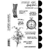 Wendy Vecchi Studio 490 Rubber Stamp - No Ring Art
