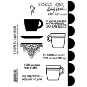 Wendy Vecchi Studio 490 Rubber Stamp - Cafe Art
