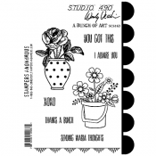 Wendy Vecchi Studio 490 Rubber Stamp - A Bunch of Art