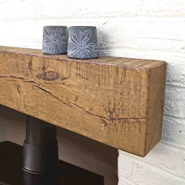 Contemporary Oak Mantel - 10cm x 20cm