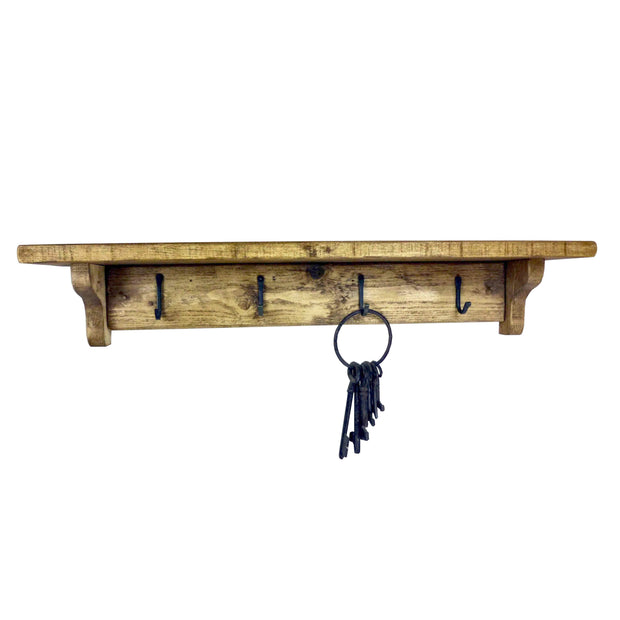 Rustic Coat Rack Shelf