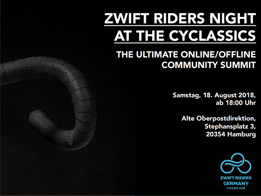 Zwift Riders Night at the Cyclassics 2018