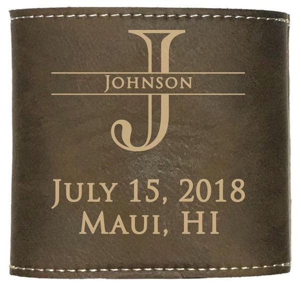 Custom koozie for wedding favors