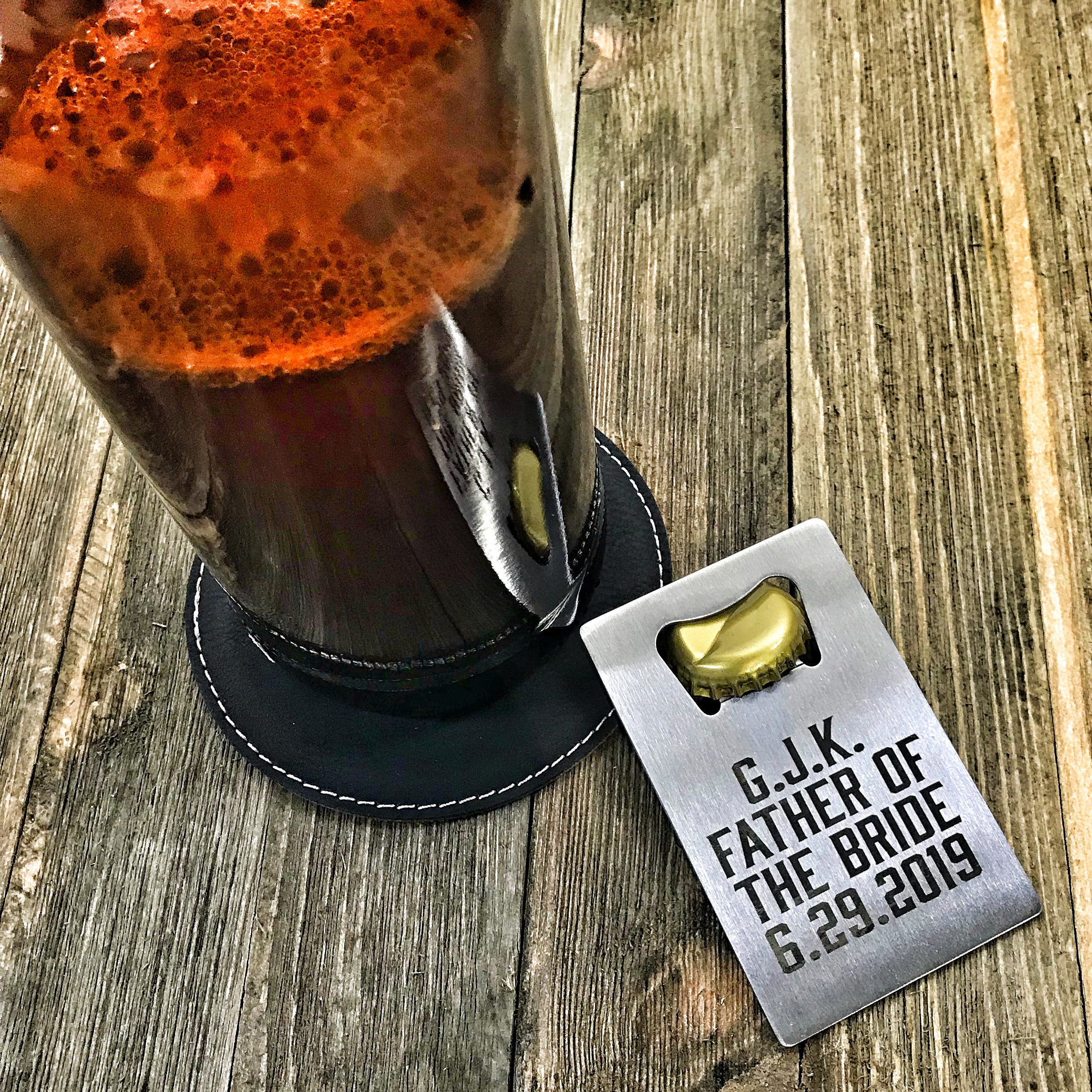 Credit Card Bottle Opener with Custom Engraving