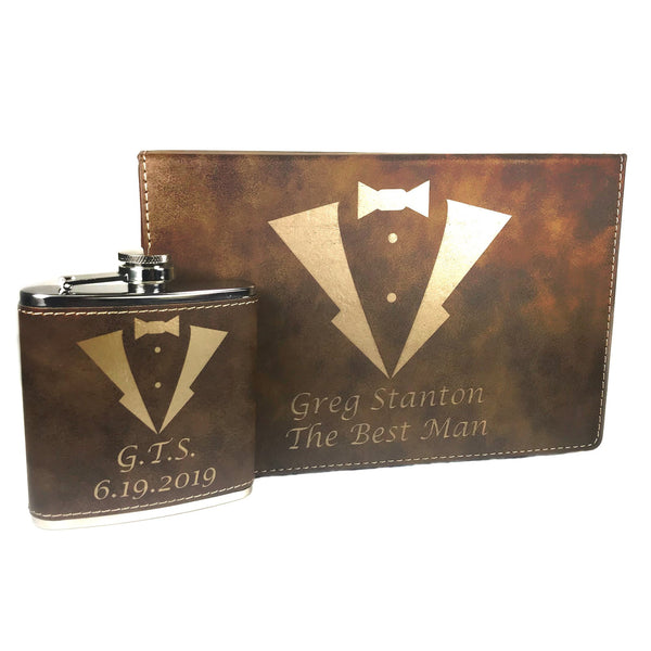 Custom Flask for Groomsmen