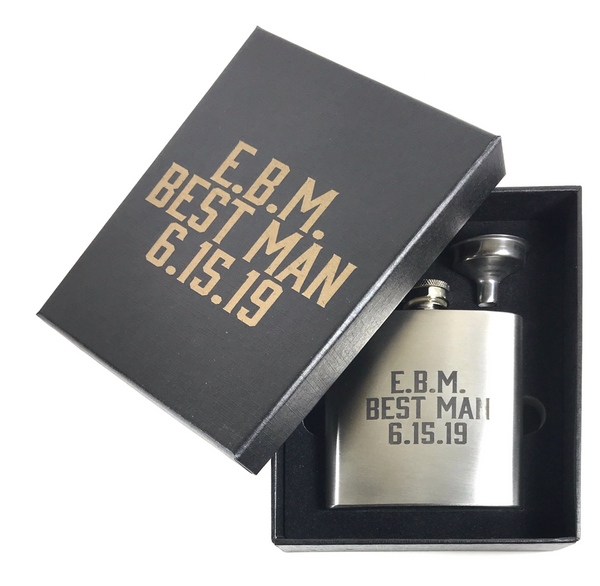 Steel Personalized Flask