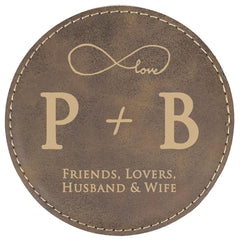 Wedding Favors -- Brown Coasters