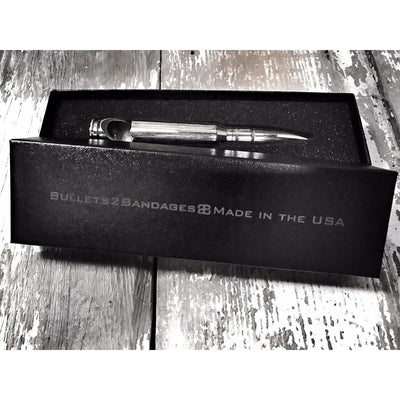 """Silver Bullet"" .50 Caliber Bottle Openers with Branded Gift Boxes"
