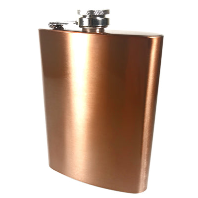 Copper Flask with Monogram Engraving