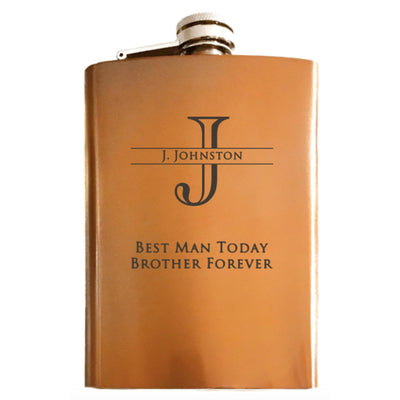 Monogrammed Flask with Custom Engraving