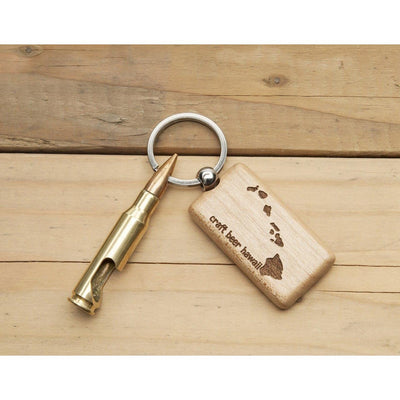 Craft Beer Hawaii 7.62mm Keychain Bottle Opener with Wood Tag