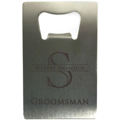 Credit Card Bottle Opener with Monogram