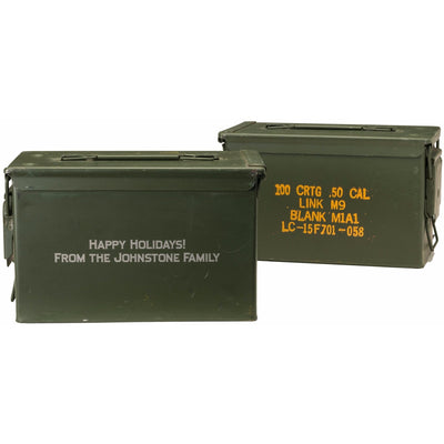 Custom Engraved Green Ammo Can