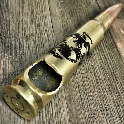 Brass Eagle, Globe, and Anchor USMC .50 Caliber Bottle Opener