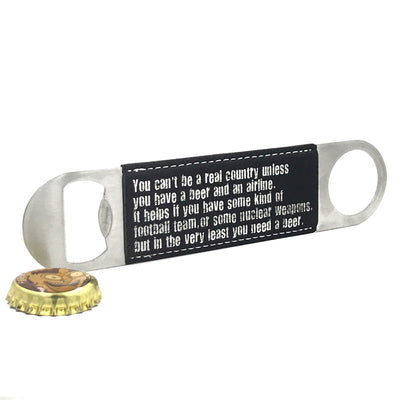 Beer Quotes Black Paddle Bottle Opener