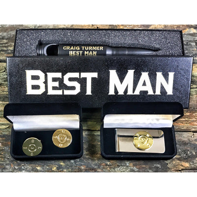 Matte Black Best Man Bundle with Cufflinks and Money Clip