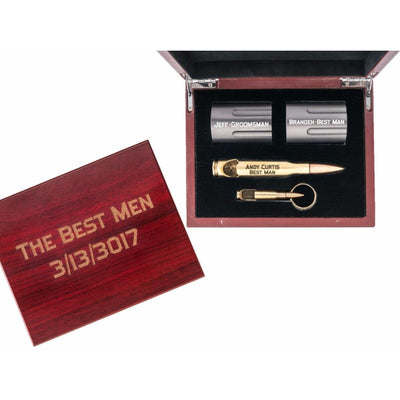 Groomsmen Gift Bundle with Brass Bottle Opener