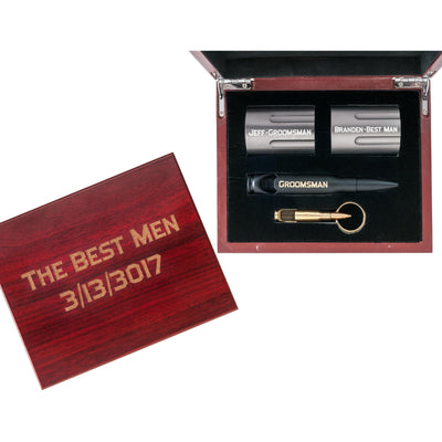 Groomsmen Gift Bundle with Matte Black Bottle Opener