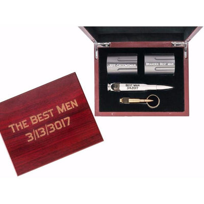 "Groomsmen Gift Bundle with ""Silver Bullet"" Bottle Opener"