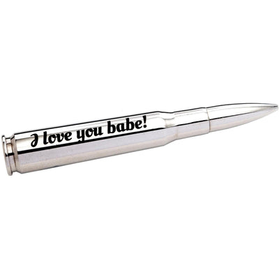 "Personalized Valentine's ""Silver Bullet"" Bottle Opener"